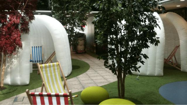 Unique Inflatable spaces